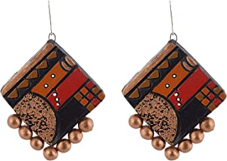 Earing Ear-Ring Stud jhumka jhumki Terracotta Large Earrings earings in Multi-Colour Indian Terracota Jewellery