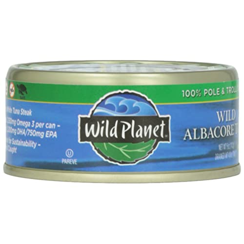 Wild Planet Wild Albacore Tuna No Salt Added 5 Oz