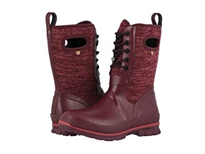 Bogs Crandall Lace Knit (Burgundy Multi) Women
