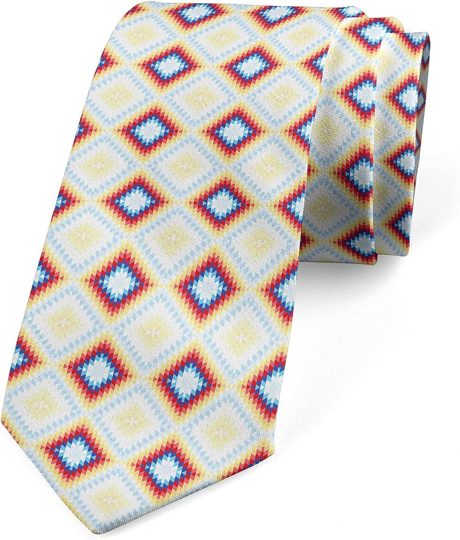 Ambesonne Necktie, Oriental Ornamental Style, 3.7
