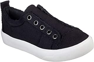 Skechers Women's BOBS Cloudy - Squadville Canvas Sneaker, Black, 9.5