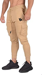 Gym Joggers for Men   Skinny Tapered Cargo   Slim Fit Sweatpants  Workout Pants Clothes with Pockets   203