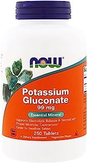 Now Foods Potassium Gluconate 99 Milligrams - 250 Tablets