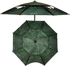 Patio Paraplu, Vissersparaplu 2m / 2.2m / 2.4m Strandparasol Uv-bescherming, Tuinparasol, Bladpatroon, Zonneparasol Terras...