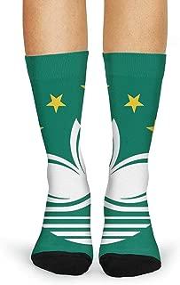 JECIA HOLDER Women's Flag Of Maryland Crew Tube Socks Crazy Novelty High Athletic Socks