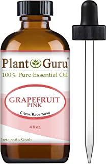 Pink Grapefruit Essential Oil 4 oz 100% Pure Undiluted Therapeutic Grade Cold Pressed from Fresh Grapefruit Peel, Great fo...
