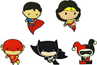 Retail Sales Solutions DC Comics Justice League Chibi Mega Refrigerator Magnet Set - Batman, Wonder Woman, Flash, Super Man, Harley Quinn
