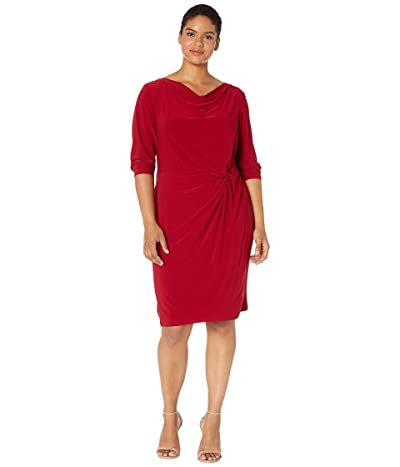 LAUREN Ralph Lauren Plus Size Trava Dress (Vibrant Garnet) Women
