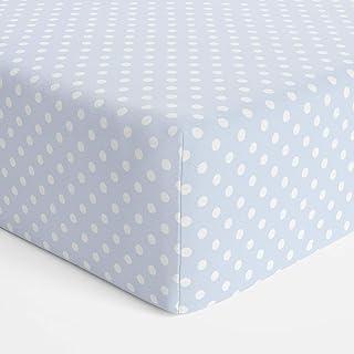 Bubba Blue Polka Dots Bassinet Jersey Fitted Sheet, Blue,