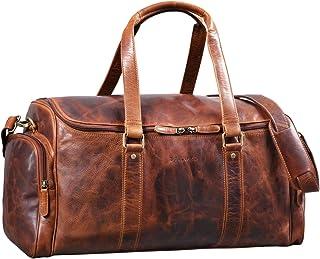 """STILORD """"Myles"""" Vintage Reisetasche Herren Leder Weekender zum Umhängen Overnight Duffle Bag Großes Reisegepäck XL echtes Rindsleder, Farbe:Kara - Cognac"""