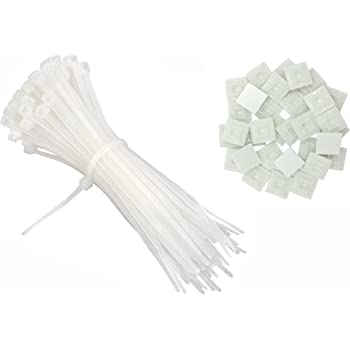 intervisio Bridas de Plastico para Cables 200mm x 2,5mm, Blanco ...