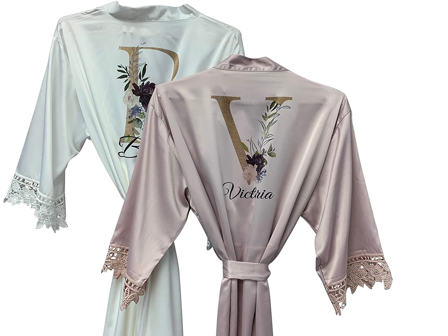 Personalized Bridesmaid Robes Lace Bridal Customized Robe Gift OFFicial mail order online shopping F