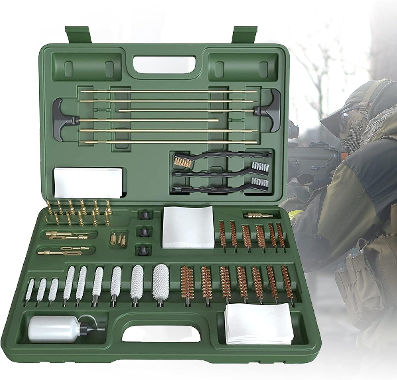 ZPCSAWA Portátil Kit de Limpieza de Pistola Universal para Pistola,Bolsa de Rango Compacta con Latón,Puntas,Cepillo,Varillas y Selección de Limpieza de Pistola