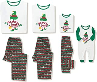 Camidy Family Christmas Matching Pajamas Xmas Nightwear Outfits for Women Men Kid Baby