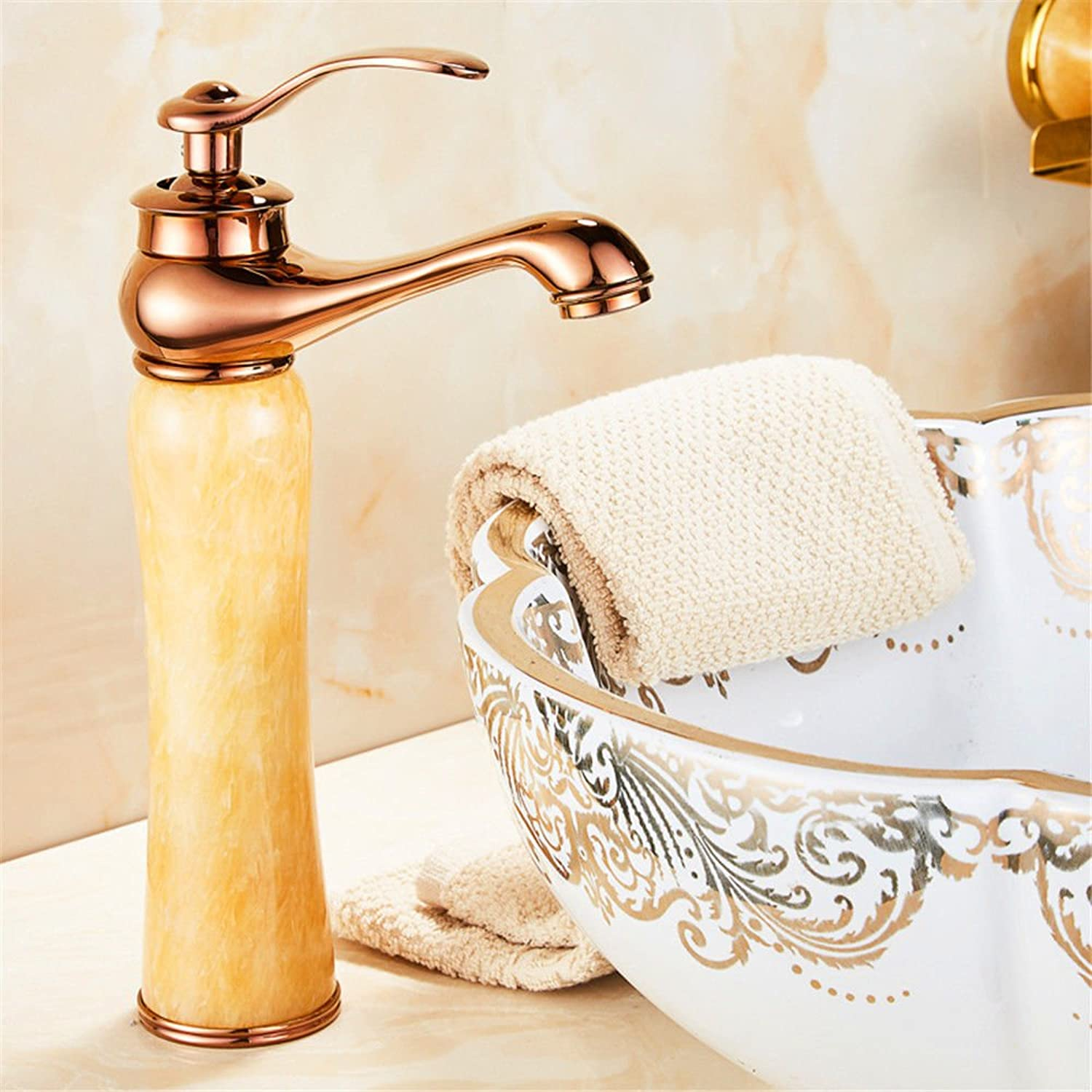 Gyps Faucet Bathroom Brass Tap Mixer Tap Basin Frame Pour Cold Water Tap Basin Basin Antique Tap gold Jade K Kitchen Tap