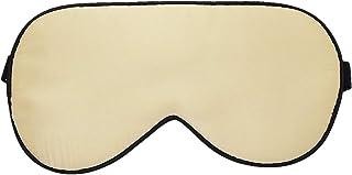 moonsix Mulberry Silk Eye Mask Blindfold Eyeshade Super Smooth Sleeping Mask for Travel,Nap,Meditation with Adjustable Strap,Champagne