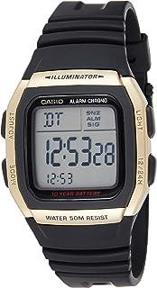 Illuminator Watch for Boys by Casio, Digital, Resin, Black, W-96H-9AV
