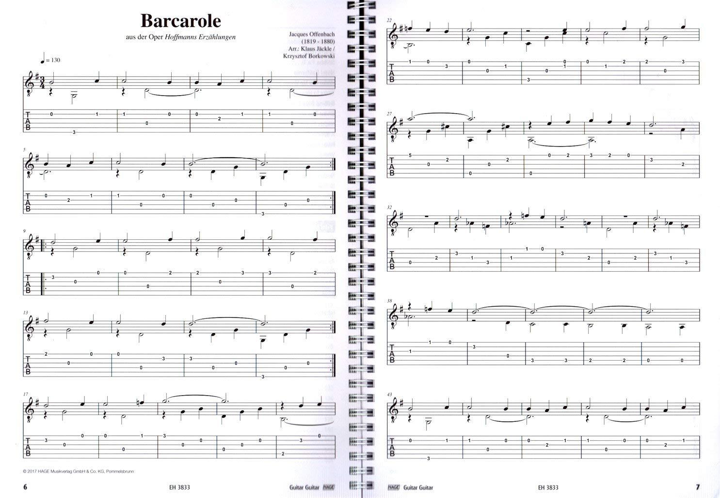 Guitar EH3833-9783866263987 - Colección de 100 melodías clásicas ...