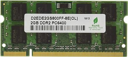 グリーンハウス ノート用 PC2-6400 200pin DDR2 SDRAM SO-DIMM 2GB GH-DW800-2GBZ