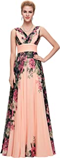 Sleeveless V-Neck Ball Gown Evening Prom Party Dress