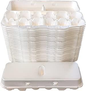 Blank Foam Egg Cartons Bulk Pack of 25- One Dozen Egg Cartons White Foam Plain Unprinted For Small Medium Large Eggs