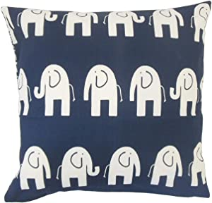 The Pillow Collection Adeniyi Graphic Floor Pillow Navy
