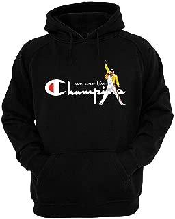QUEEN'S Freddie Mercury We are the Champions Unisex BLACK hoodie
