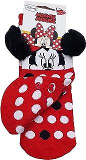 Suncity, Calcetines antideslizantes rojos de Minnie Mouse 27/30