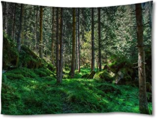 CU.RONG International Day of The Forest World Day of Forests,Home Art Decor Tapestries Fabric Wall Hanging Tapestry Natural Landscape 50x75 inches