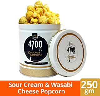 4700BC Sour Cream & Wasabi Cheese Popcorn, Tin, 250g