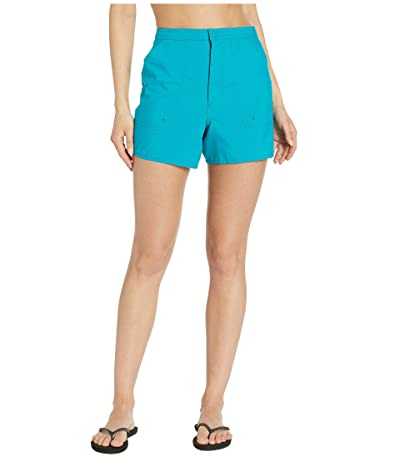 Maxine of Hollywood Swimwear Solids Woven Boardshorts (Emerald) Women