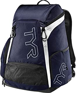 TYR Alliance 30L Backpack All Swimming Equipment, White/Navy, ALL
