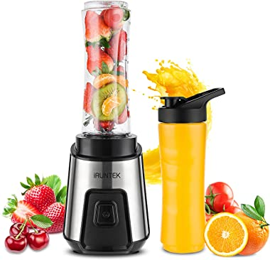 iRUNTEK Personal Blender for Shakes and Smoothies, Small Countertop Blender for Kitchen, Food Processer for juice, jam, milks
