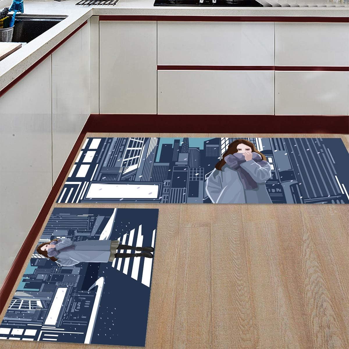 Womenfocus Kitchen Popular products Mat Set Anti-WearNon-Slip Rug Floor Super intense SALE Pi 2