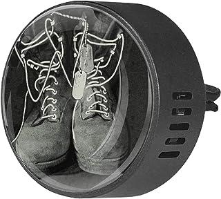 2 piezas difusor de aromaterapia difusor de aceite esencial para coche Clip de ventilación zapatos viejos
