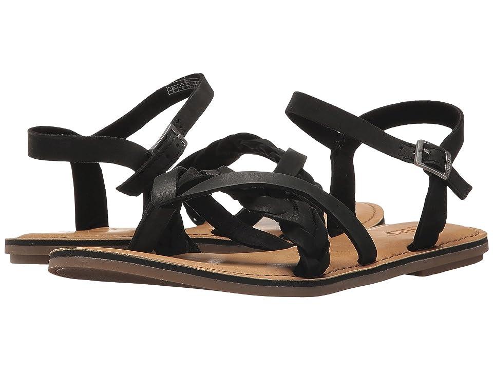 TOMS Lexie Sandal (Black Leather) Women