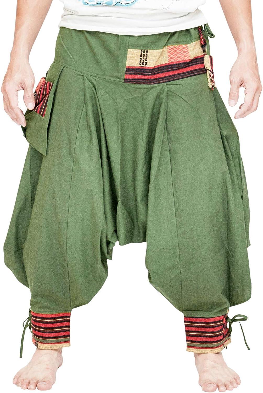 BohoHill Tribal Warrior Harem Pants Unique Low Crotch Parkour Flow Pants
