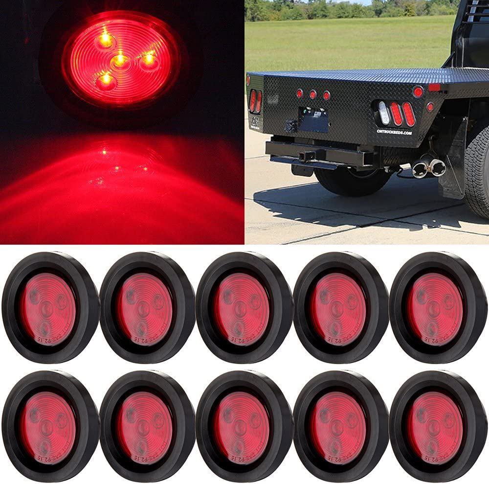 cciyu Side Tucson specialty shop Mall Marker Light 10x Red Round LED 4 Lig 2.5