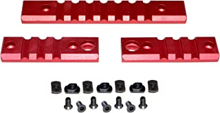 Sniper Grunt 3-Piece Picatinny Rail Section Kit for M-LOK Mounting, Red Anodized, (2) 3 Slot Section and (1) 7 Slot Section