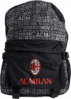 AC Milan - Mochila de Color Negro, Talla L
