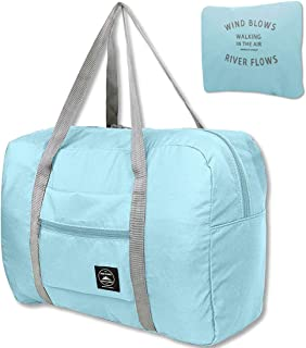 Travel Foldable Duffel Bag Resistant Nylon for Women & Men, Waterproof Lightweight Travel Luggage Bag for Sports, Gym, Vacation