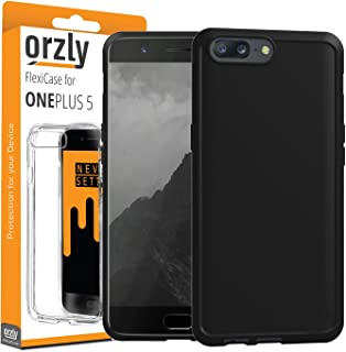 Orzly OnePlus 5 Case, FlexiCase for OnePlus 5 - MATT Black [Slim-Fit] Protective [Anti-Scratch] Flexible Skin Case Cover for New 2017 Oneplus 5 Smartphone