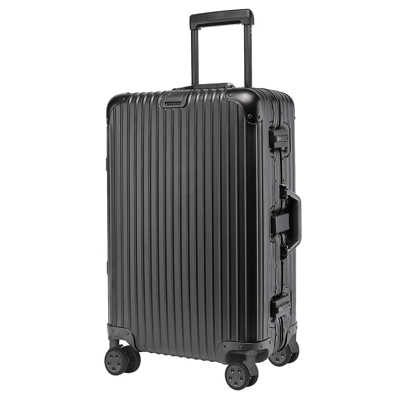 kroeus(クロース)アルミボディスーツケース キャリーケース TSAロック搭載 カバン掛け付き フレームタイプ 海外出張 旅行 1年間保証サービス