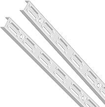 Element System Wandrail 2 rijen, 2 stuks, 4 afmetingen, 3 kleuren, lengte 150 cm voor planksysteem, plankdragers, wandrek,...