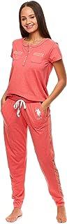 U.S. Polo Assn. Womens Pajama Set with Pockets - Short Sleeve Shirt and Pajama Pants Pj Set