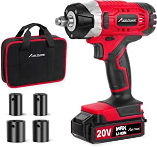 "20V MAX Cordless Impact Wrench with 1/2"" Chuck, Max Torque 2,213 in.lbs, 4Pcs Driver.."