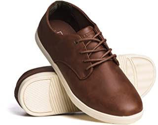 Blackwell Mens Perry Vegan Leather Lace up Casual Shoes with Memory Foam Insoles