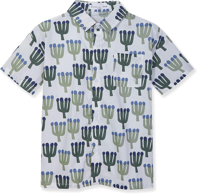 CUNYI Kids' Boys' Print Polo Shirts Summer Beach Tops Girls' Casual Dresses Summer Dress