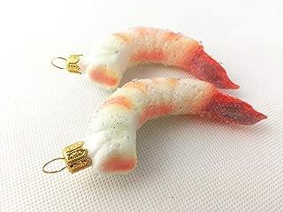Shrimp Seafood Christmas Holiday Ornament Glass