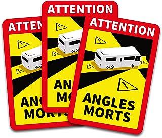 Obs! Angles Morts klistermärken 25 x 17 cm för fordon, obligatoriskt från 3,5 t i Frankrike, varningsklistermärken för död...